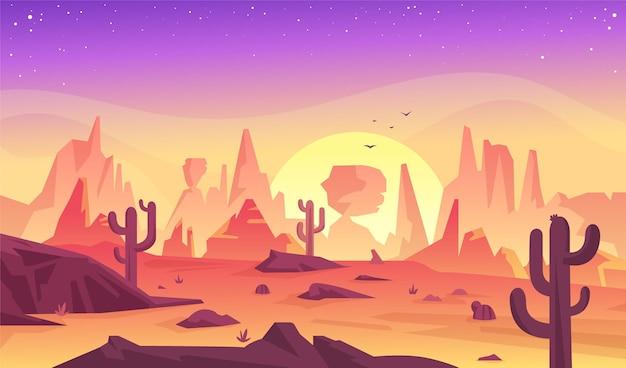 Woestijnlandschap - achtergrond voor videoconferenties
