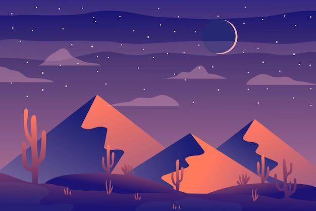Woestijnlandschap achtergrond voor videoconferenties