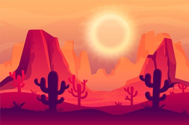 Woestijnlandschap behang voor videoconferenties