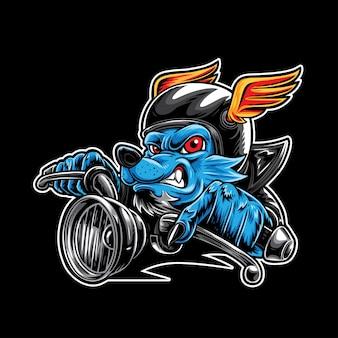 Wolf biker speed racing