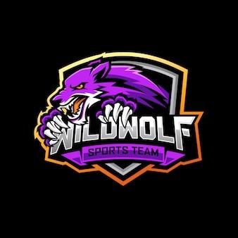 Wolf e-sports logo ontwerp