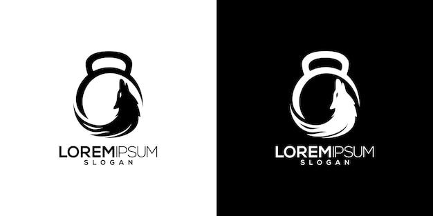 Wolf gym en fitness logo vector