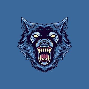 Wolf hoofd mascotte