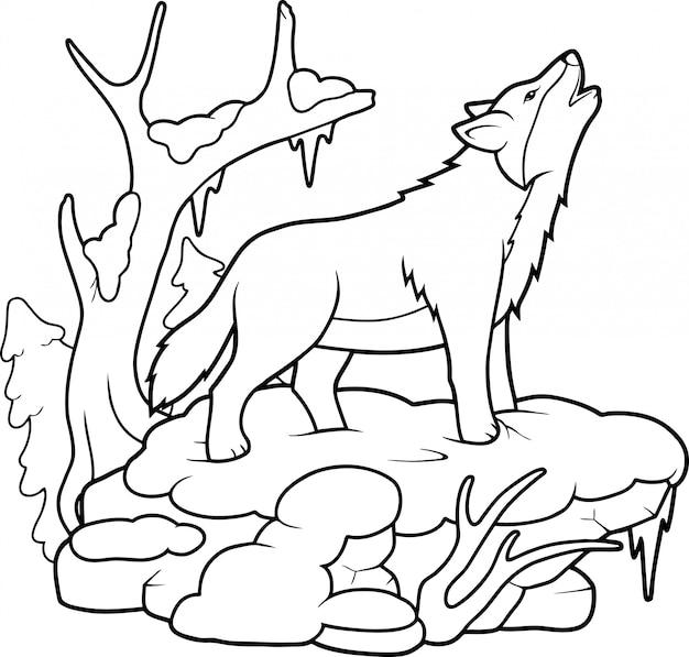 Wolf kleurboek