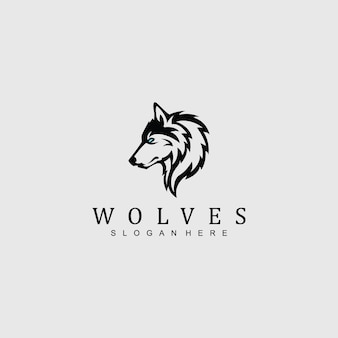 Wolf-logo voor elk bedrijf / bedrijf