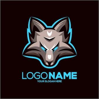 Wolf mascotte logo ontwerp