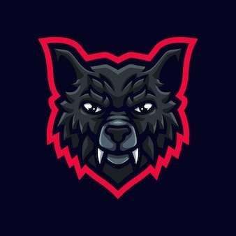 Wolf mascotte logo voor gaming twitch streamer gaming esports youtube facebook