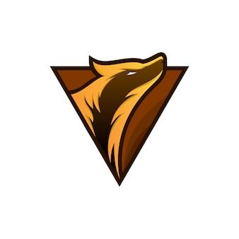 Wolf-mascotte voor esport- en gaming-logo