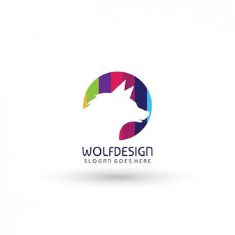 Wolf sjabloon logo