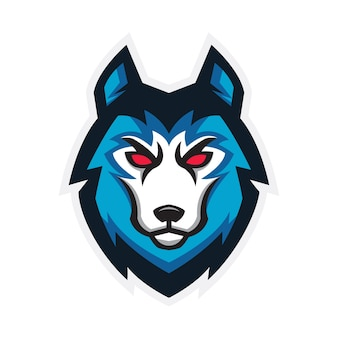 Wolf sport logo gaming concept