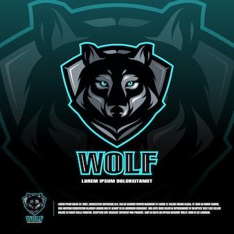 Wolf sport team logo sjabloon