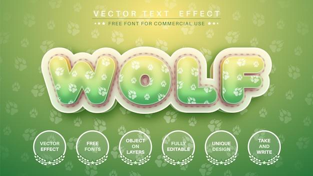Wolf teksteffect