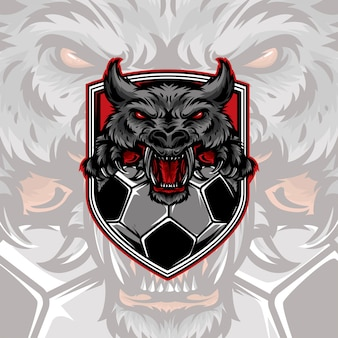 Wolf voetbal logo