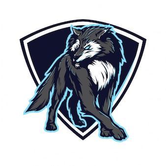 Wolf voor e sport-logo