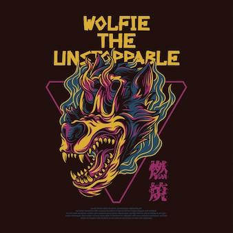 Wolfie de niet te stoppen illustratie