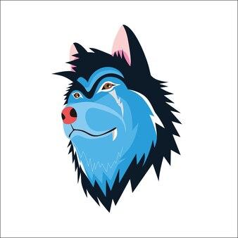 Wolfillustratie voor t-shirtontwerp trekken