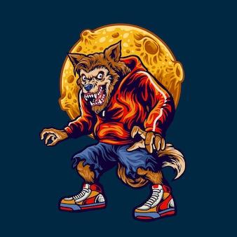 Wolfman-illustratie