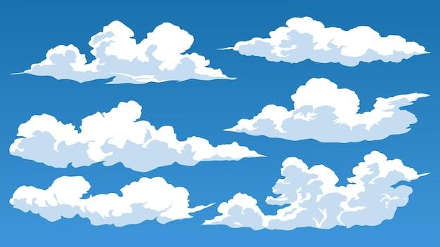 Wolk ingesteld op blauwe hemel