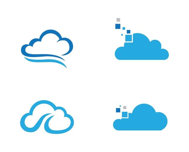 Wolk logo sjabloon vector illustratie ontwerp