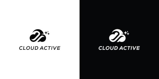 Wolk vector pictogram illustratie ontwerp logo sjabloon premium vector