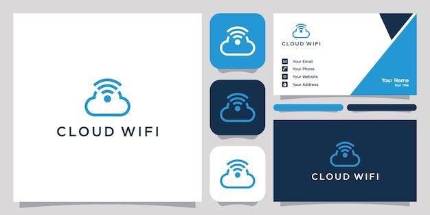 Wolk wifi logo ontwerp pictogram symbool
