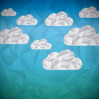 Wolken abstract ontwerp, vector grafische illustratie eps10