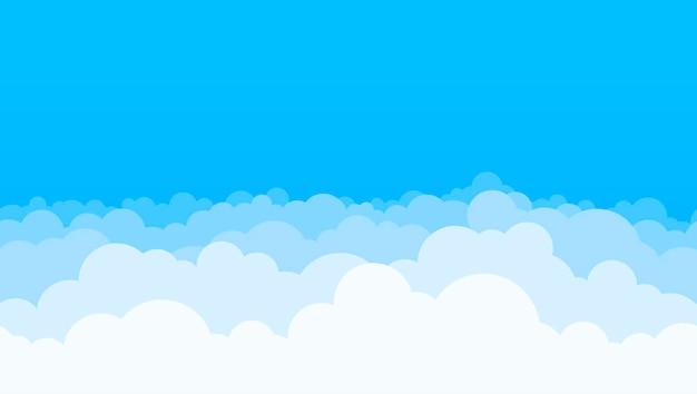 Wolken en blauwe hemelachtergrond