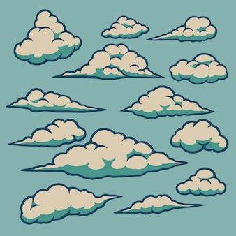 Wolken pictogrammenset
