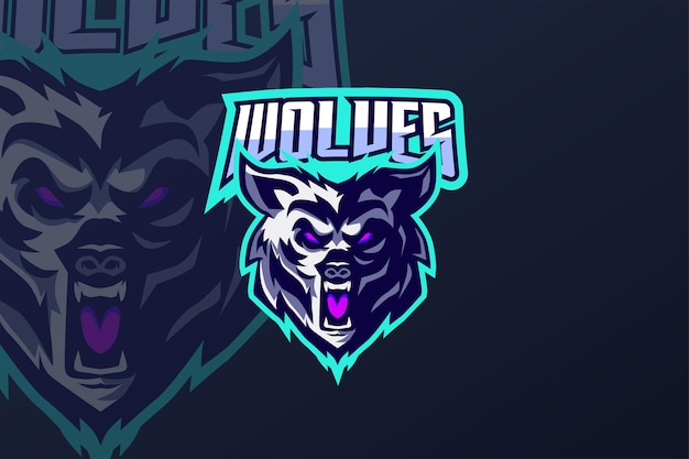 Wolven - esport-logo sjabloon