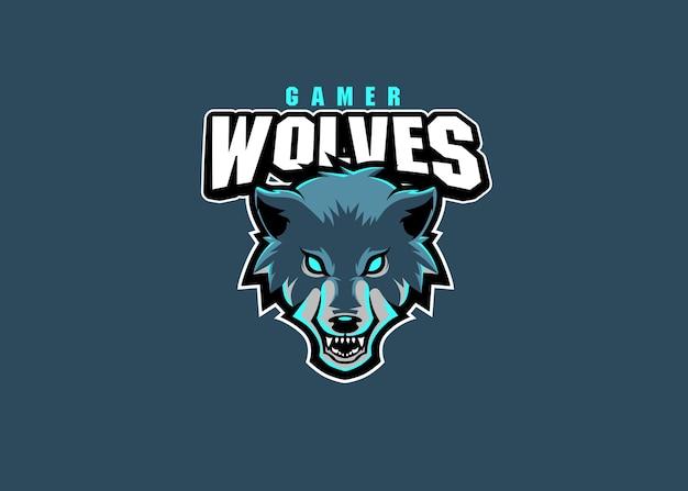 Wolven esport team logo ontwerp