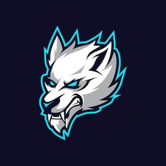 Wolven mascotte esport logo