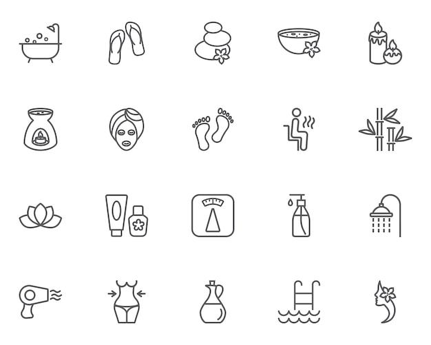 Woman spa pictogrammen instellen