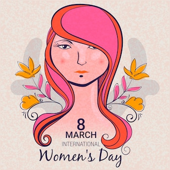 Womens dag evenement tekening thema