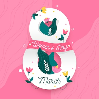 Womens dag in bloemdessin