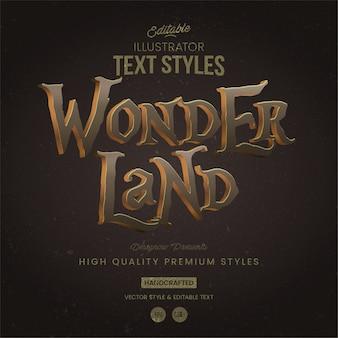 Wonderland-tekststijl