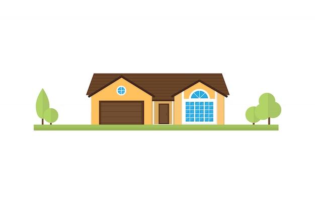 Woningbouw of huis vlakke stijl.