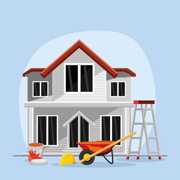 Woningrenovatie en gereedschap