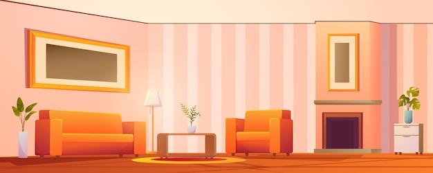 Woonkamer interieur vectorillustratie