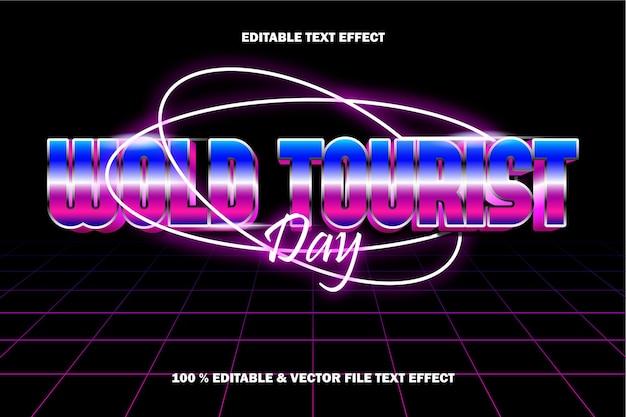 Woord toeristische dag tekst effect