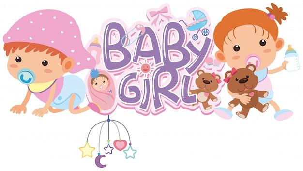 Woord voor baby meisje