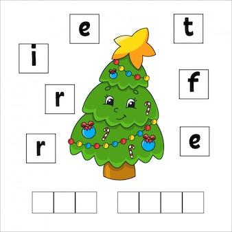 Woorden puzzel. onderwijs ontwikkelt werkblad