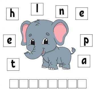 Woorden puzzel. werkblad voor het ontwikkelen van onderwijs