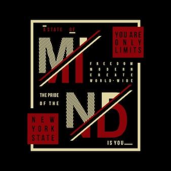 Woorden slogan typografie t-shirt ontwerp