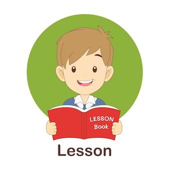Woordenschat flash card voor kinderen. les naar met foto les naar