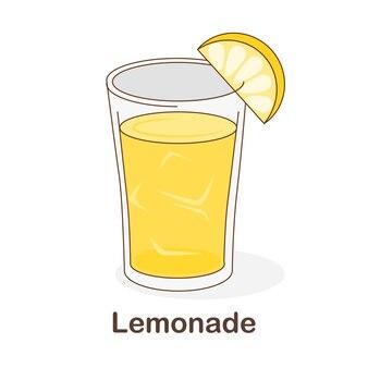 Woordenschat flash card voor kinderen. limonade met afbeelding van limonade