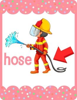 Woordenschat flashcard met woord hose