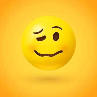 Woozy gezicht emoji wordt moe, emotioneel of dronken