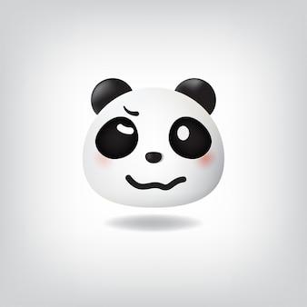 Woozy gezicht panda moe emotioneel dronken