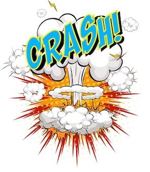 Word crash op komische wolk