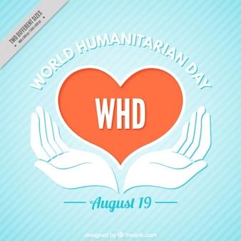 Word humanitaire dag achtergrond